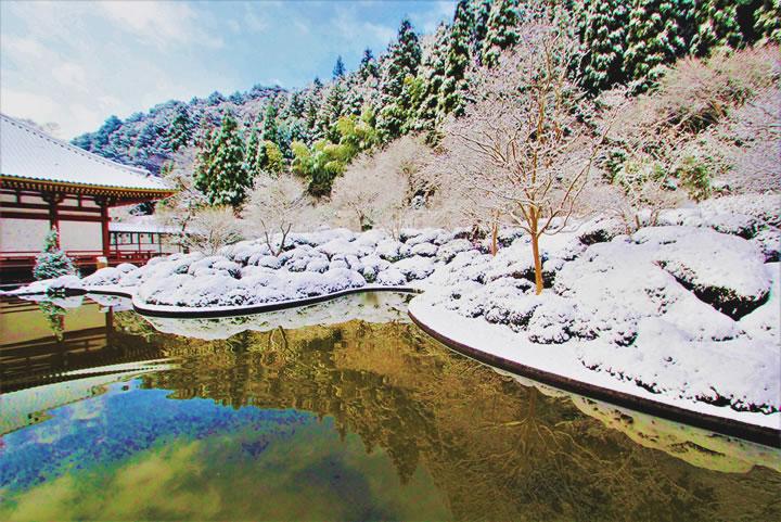 久安寺 雪の風景