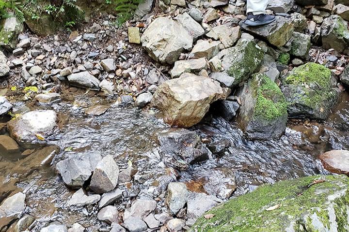 石澄滝への道のり