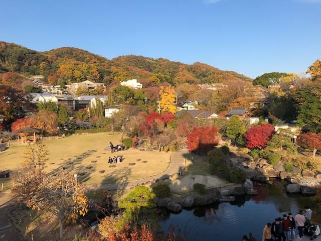 池田城 やぐら風展望台からの景色