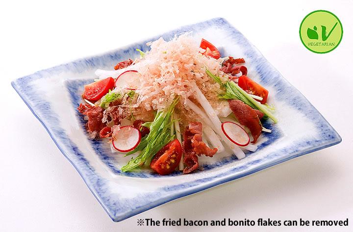 Mizuna and Daikon Salad